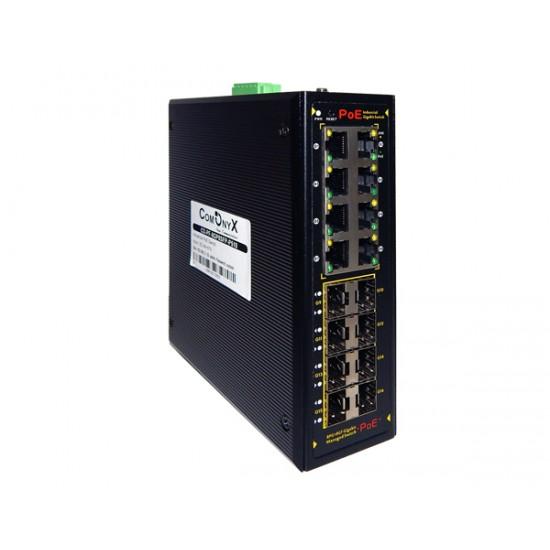 Индустриальный управляемый РоЕ коммутатор CO-PF-8GP8SFP-P510
