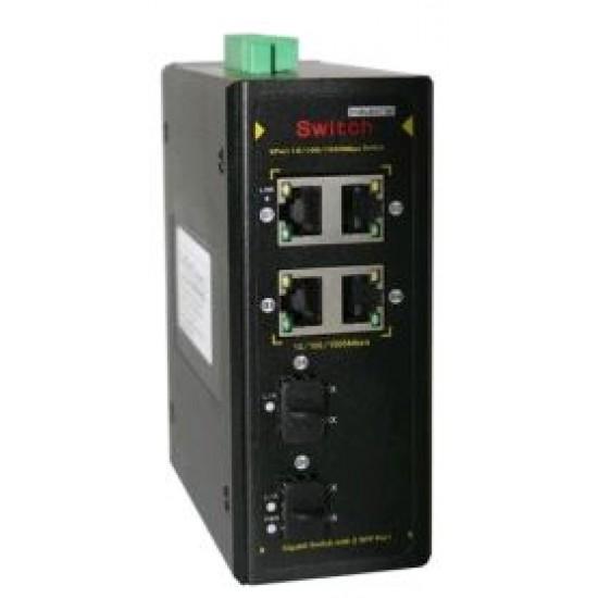 Индустриальный коммутатор CO-PF-4G2SFP-P504