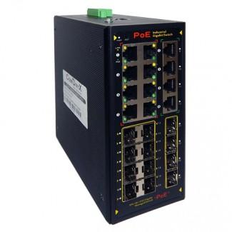 Индустриальный управляемый РоЕ коммутатор CO-PF-8GP4G12SFP-P511