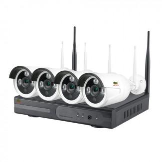 1.0MP Набор для улицы Wi-Fi IP-21 4xCAM + 1xNVR