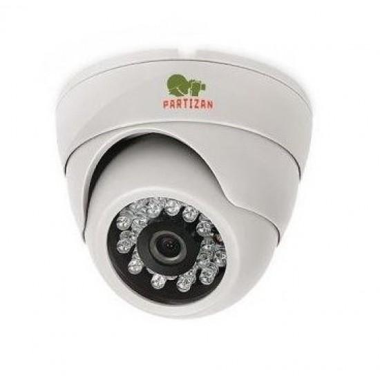 Купольная камера с фиксированным фокусом с ИК подсветкой CDM-223S-IR FullHD Metal